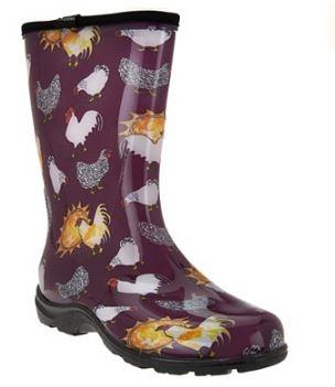 sloggers made in the usa womens rain u0026 garden boot chicken print