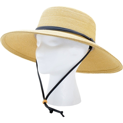 Sloggers Women 39 S Braided Sun Hat With Wind Lanyard Upf 50 Maximum Sun Protection